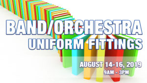 Band/Orchestra Uniform Fittings