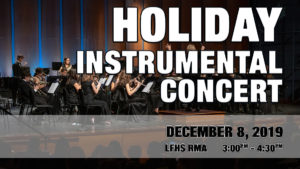 Holiday Instrumental Concert (Before Applause Spaghetti Dinner)