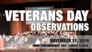 Veterans Day Observations 2019